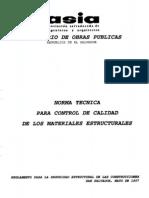Norma Control de Calidad de Matriales Esgtrcuturales