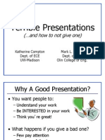 Unit 1 -- Presentation Skills -- Bad Examples
