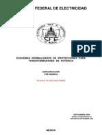 Cfe-g0000-62 Protecciones Para Transformasores de Potencia