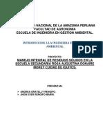 Proyecto Manejo Integral de Residuos Solidos en Loreto Peru