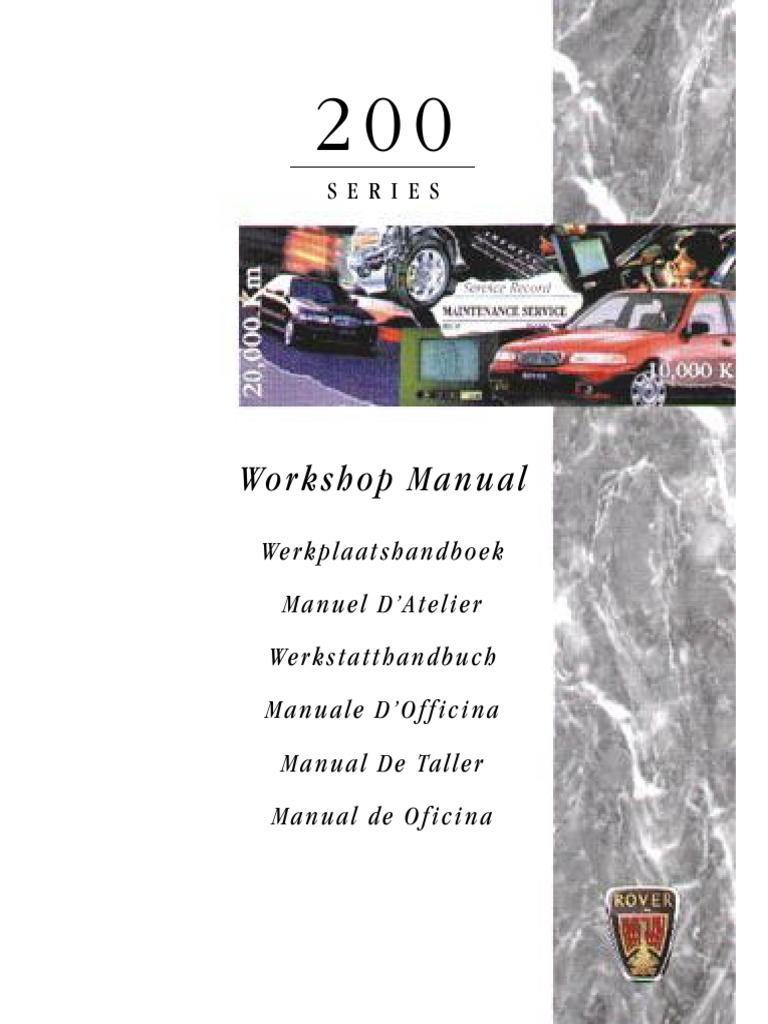 rover 200 repair manual pdf screw manual transmission rh scribd com manuel rover 200 rover 200 repair manual
