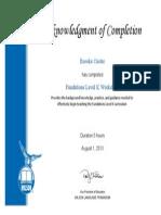 fundations level k workshop