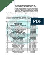 RESULTADO DO PROCESSO SELETIVO PARA SELEÇÃO DE ACADÊMICOS DA LIGA ACADÊMICA DE CIRURGIA GERAL – LACG