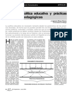 politica educativa y prácticas pedagógicas