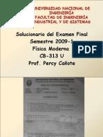 Solucionario Examen Final 2009-1