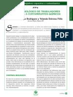 Control Biologico de Trabajadores Expuestos a Contaminantes Quimicos