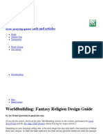 Worldbuilding - Fantasy Religion