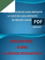 Ponencia Reflexiones Praxis Pedagogica