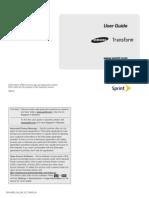 Sprint M920 Transform English User Manual