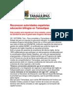 com1906.- 301008 Reconocen autoridades españolas educación bilingüe en Tamaulipas