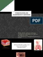 Toxicología de aldehídos y cetonas
