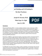 Dimension Modelling and ER Modelling in DW
