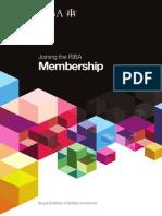 RIBA Membership brochure