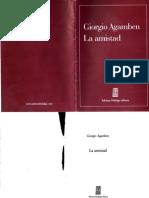 La Amistad- Giorgio Agamben