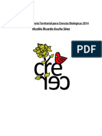 Programa Consejería Territorial Ciencias Biológicas 2014 Nicolás Acuña