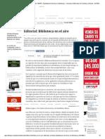 06.10.13_Editorial_ Biblioteca en el aire- Editoriales EL TIEMPO- Digitalización de libros en bibliotecas