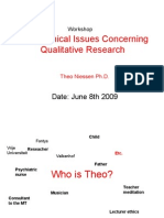 "Workshop ""Masterclass  Philosophical Assumptions Concerning Qualitative research"""
