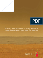 Rising Temperatures Rising Tensions in the Middle East
