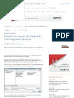 Criando um arquivo de integração com Integration Services _ iMasters