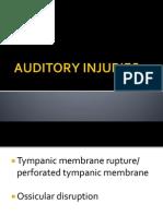 Auditory Injuries