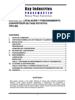 Convertidor de Fase Rotativo Tipo MA _ Phasemaster® _ Manual de Instalación y Funcionamiento _ KAY INDUSTRIES