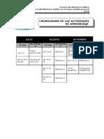 Cronograma de Curso de Fiscales