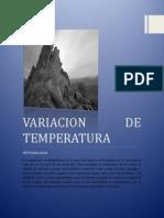 Variacion de Temperatura
