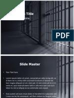 Prison Bars Clip Art Powerpoint Template