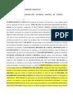 OBLIGACINES SIMPLEMENTE CONJUNTAS.-ESCRITURA DE CONSTITUCIÓN SOCIEDAD ANÓNIMA DE CAPITAL VARIABLE