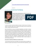 Korol, Claudia - Entrevista a Francesca Gargallo, La Amenaza de Las Fronteras (15-Oct-2013)