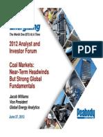 Forward Look Coal Markets 07 2012 Peabody