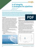 Premium Digest December 2010 Development of Integrity Management Strategies for Pipelines