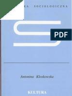 KULTURA MASOWA - Antonina Kloskowska