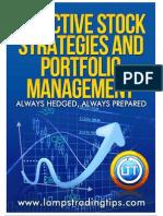 Effective Stock Strategies and Portfolio Management
