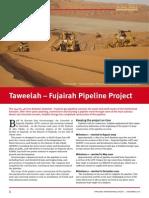 Premium Digest December 2010 Taweelah Fujairah Pipeline Project