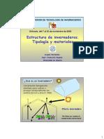 Estructuras de invernaderos. Tipología y materiales