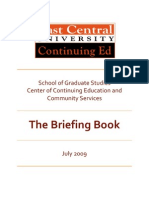The CCECS Briefing Book 2009