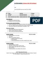 Nursing Course Information