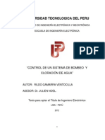 CONTROL DE UN SISTEMA DE BOMBEO Y CLORACIÓN DE AGUA