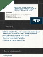 An Unusual Presentation of Transient Postpartum Diabetes Insipidus