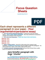 using focus question sheets