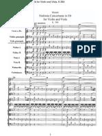Fantasia Concertante Para Violino e Viola - Mozart