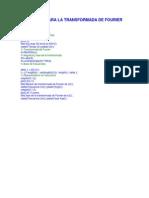 Sintaxis Para La Transformada de Fourier