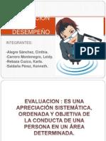 """EVALUACIÃ""""N DEL DESEMPEÃ'O - EXPOSICION"""