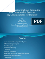 Propulsion and Shafting