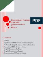 blood pattern analysis(droplet dynamics)
