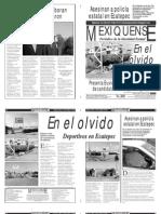 Versión impresa del periódico El mexiquense  15 octubre 2013