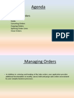 Managing Orders