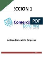 Auiditoria de la empresa Comercial Doña Ana 1