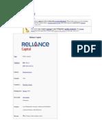 Reliance Capital